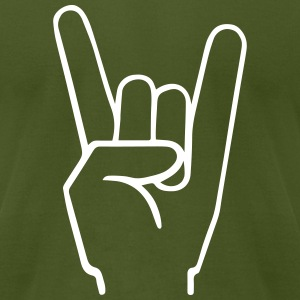 Heavy Metal Fingers T-Shirts - Men's T-Shirt by American Apparel