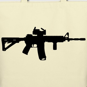 M4 - Assault Rifle Bags & backpacks - Eco-Friendly Cotton Tote