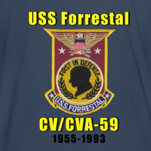 USS Forrestal Tribute Shirt Larger Sizes - Men's Premium T-Shirt