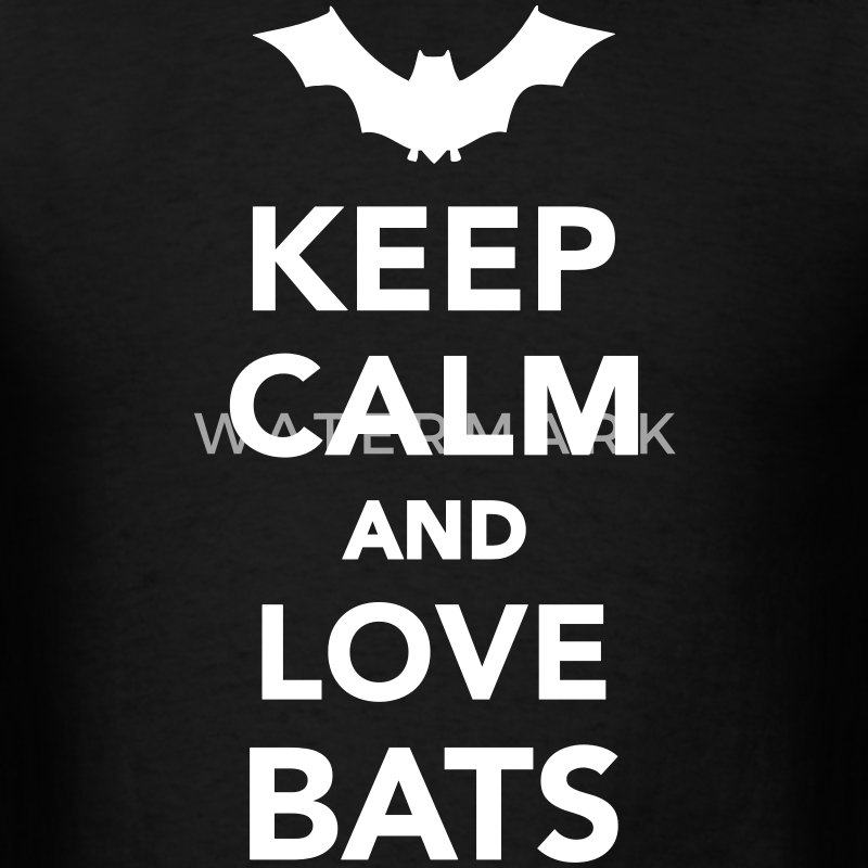 Keep calm and love Bats T-Shirts - Men's T-Shirt