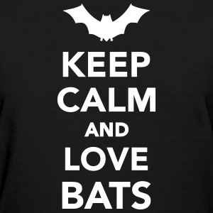 Keep calm and love Bats Women's T-Shirts - Women's T-Shirt