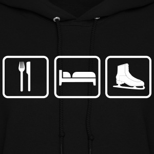 Eat Sleep Ice Skates, Eat Sleep Ice Skating Hoodies - Women's Hoodie