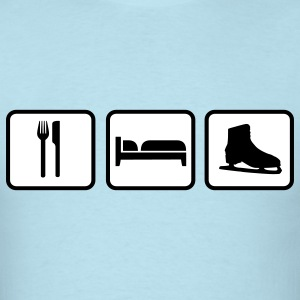 Eat Sleep Ice Skates, Eat Sleep Ice Skating T-Shirts - Men's T-Shirt