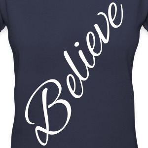 Believe - Women's V-Neck T-Shirt