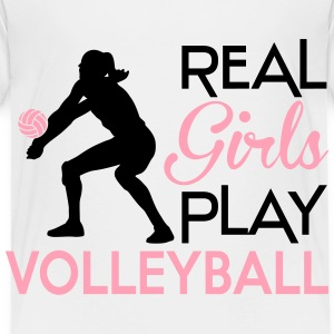 Real girls play volleyball Baby & Toddler Shirts - Toddler Premium T-Shirt