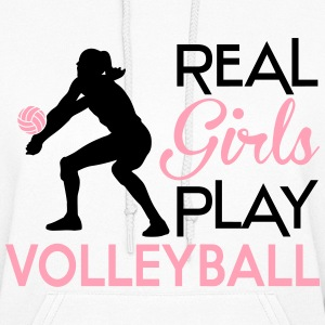Real girls play volleyball Hoodies - Women's Hoodie