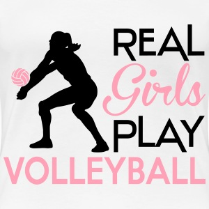 Real girls play volleyball Women's T-Shirts - Women's Premium T-Shirt