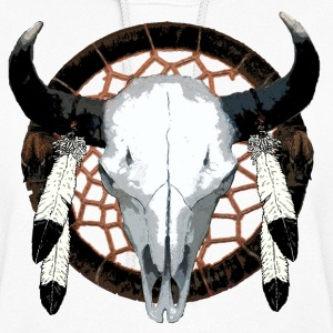 Bison skull on dream catcher  - Women's Hoodie