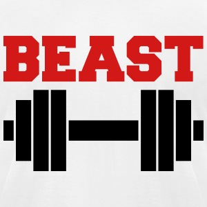 Beast Barbells  T-Shirts - Men's T-Shirt by American Apparel