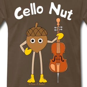 Cello Nut White Text T-Shirts - Men's Premium T-Shirt