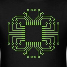 Electric Circuit Board Processor T-Shirts