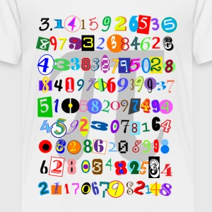 Colorful and Fun Depiction of Pi Calculated - Kids' Premium T-Shirt