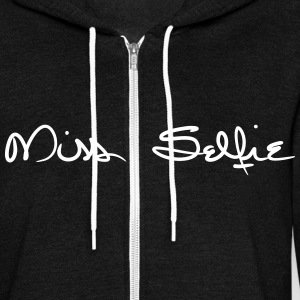 Miss Selfie Unisex Zip Fleece Hoodie - Unisex Fleece Zip Hoodie by American Apparel