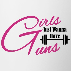 girls just wanna have guns fitness Bottles & Mugs - Coffee/Tea Mug
