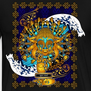 Multicultural Buddha: Open Mind - Men's Premium T-Shirt