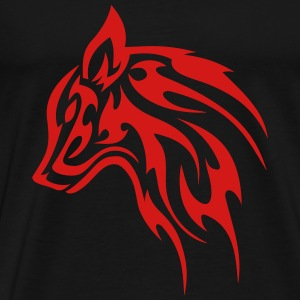 tribal wolf head 1c T-Shirts - Men's Premium T-Shirt