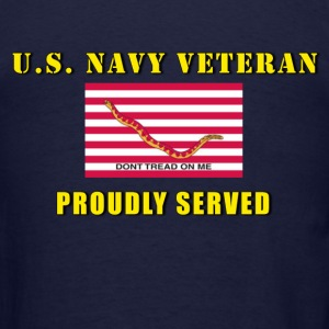 US Navy Veteran Proudly Served Men's Deluxe Shirt - Men's T-Shirt
