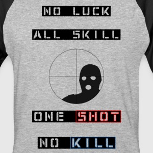 ONE SHOT NO KILL baseball-T - Baseball T-Shirt