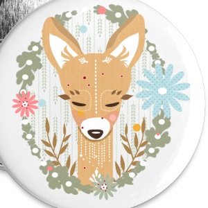 A deer in the forest  Buttons - Small Buttons