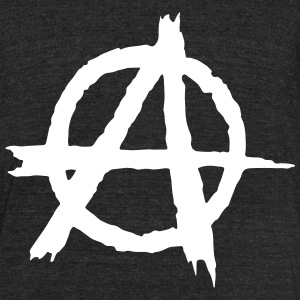 Anarchy T-Shirts - Unisex Tri-Blend T-Shirt by American Apparel