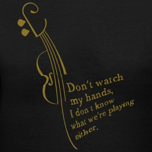 Don't watch me! Women's T-Shirts - Women's V-Neck T-Shirt
