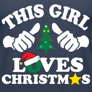 this girl loves christmas Tanks - Women's Premium Tank Top