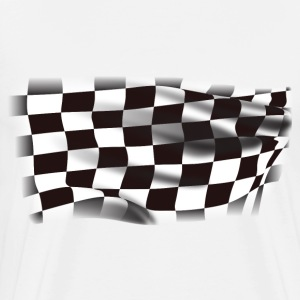 Finish Line Race Flag - Men's Premium T-Shirt