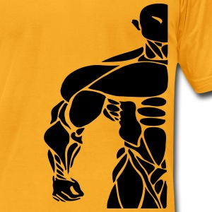 bodybuilding logo T-Shirts - Men's T-Shirt by American Apparel