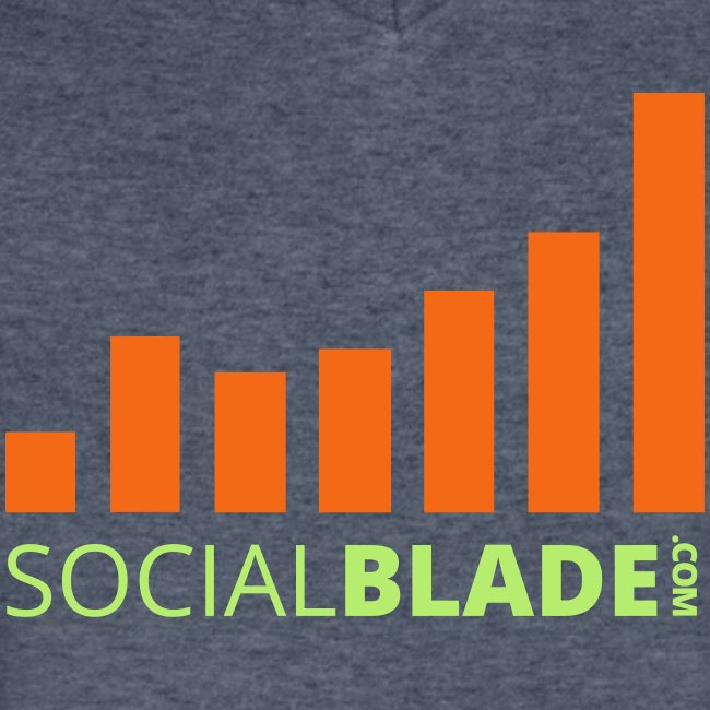 Social Blade Green and Orange Logo V-Neck
