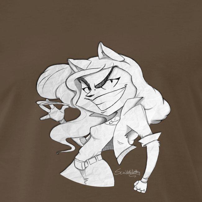 ScribbleNetty (Grayscale) - Men's T-shirt
