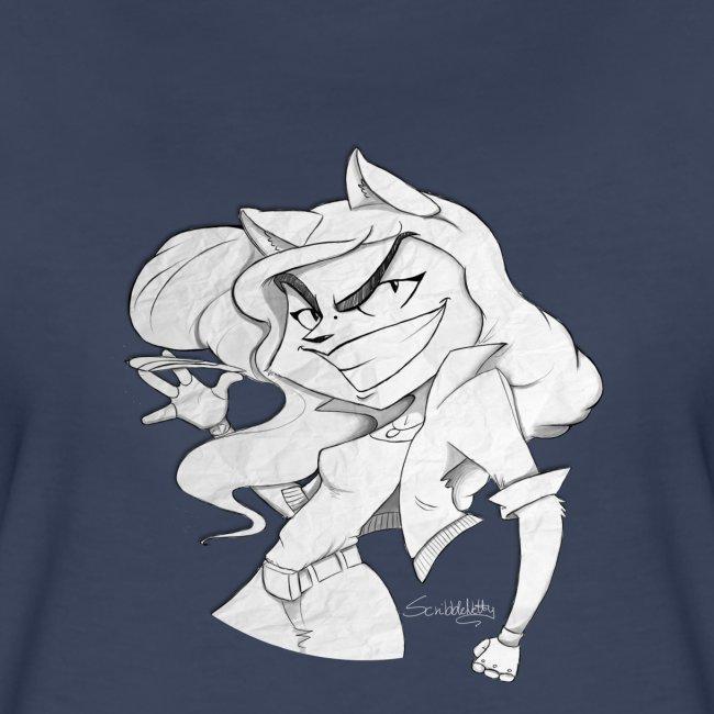ScribbleNetty (Grayscale) - Women's T-shirt