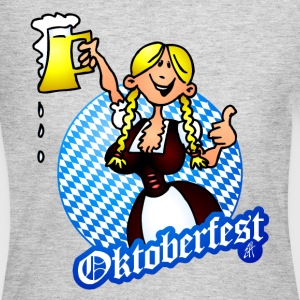 Oktoberfest - girl in a dirndl Long Sleeve Shirts - Women's Long Sleeve Jersey T-Shirt