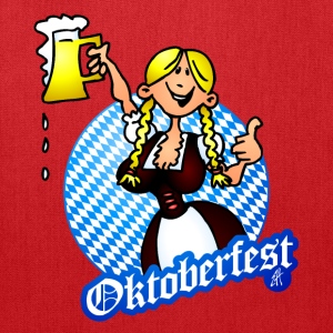 Oktoberfest - girl in a dirndl Bags & backpacks - Tote Bag