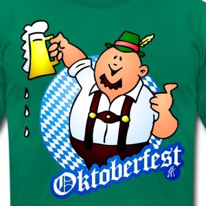 Oktoberfest - man in lederhosen T-Shirts - Men's T-Shirt by American Apparel