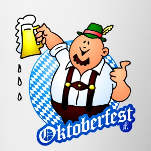 Oktoberfest - man in lederhosen Bottles & Mugs - Contrast Coffee Mug