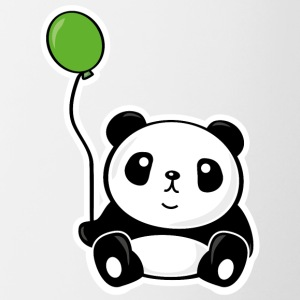 Panda with ballon Bottles & Mugs - Contrast Coffee Mug