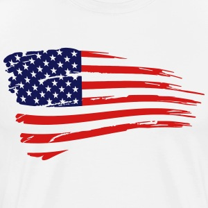 Retro American Flag T-Shirts - Men's Premium T-Shirt