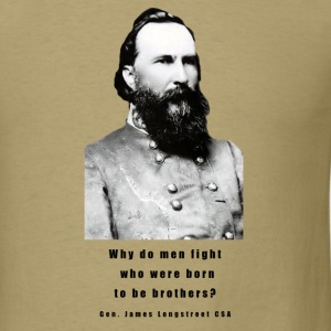 Gen. James Longstreet CSA Design - Men's T-Shirt