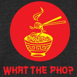 What the Pho? Tee (Unisex) - Unisex Tri-Blend T-Shirt by American Apparel