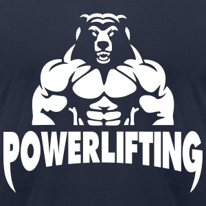 Powerlifting T-Shirts - Men's T-Shirt by American Apparel