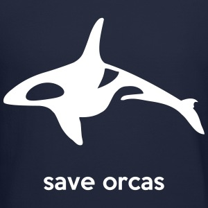 save orcas Long Sleeve Shirts - Crewneck Sweatshirt