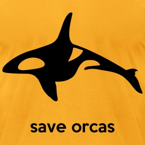 save orcas T-Shirts - Men's T-Shirt by American Apparel
