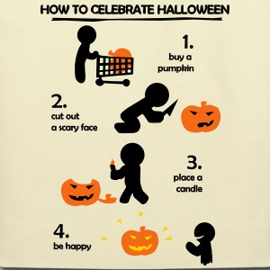 How to celebrate Halloween Bags & backpacks - Eco-Friendly Cotton Tote