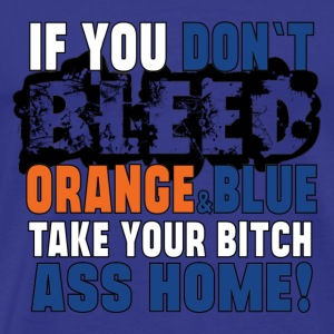Bleed Orange and Blue - Men's Premium T-Shirt