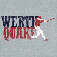 Design ~ Vintage #WERTHQUAKE - Grey Tri-Blend