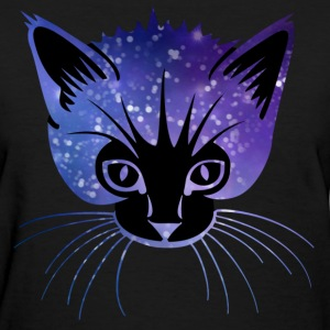 Galaxy Cat Head Women's T-Shirts - Women's T-Shirt
