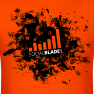 Design ~ Social Blade Orange Smash T-Shirt