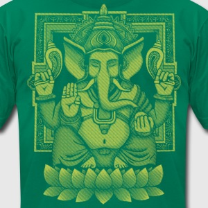 Ganesh Yellow Halftone T-Shirts - Men's T-Shirt by American Apparel