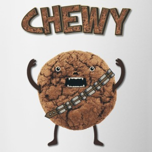 Funny Nerd Humor - Chewy Chocolate Cookie Wookiee Bottles & Mugs - Contrast Coffee Mug