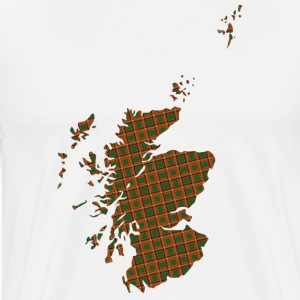 Scotland in check pattern Shirt - Men's Premium T-Shirt